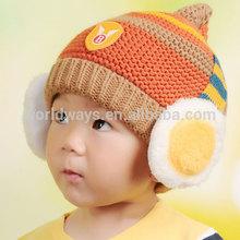 HC-021 2014 New Style High Quality Baby Kitten Hat Knit Pullover Balaclavas Cap