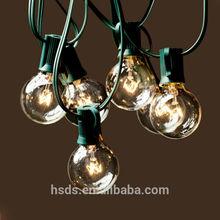 E12 G40 clear globe string light