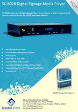 SC-8028 3G Network Digital Signage android 4.0 tv box media player supermarket use