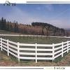 Fentech White 4 Rail PVC/ Vinyl Horse Fence / Ranch Rail Fencing/ Flat post cap