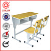 Middle new style school attached school used children double college school desk and chair
