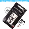 Best Price For iPhone 4 3 In 1 Strong Micro Nano Sim To Mini Nano Dual Micro Sim Card Adapter Holder With Pin P0003-122