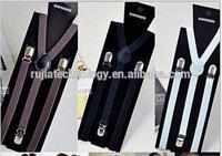 plain color fashion Suspenders belt for men