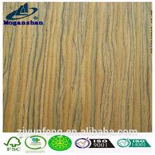 Reconstituted Decorative Engineered Wood Veneer Africa Teak Veneer with fleece back