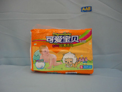 Sleepy baby diaper from baby diaper production line