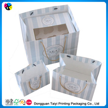 2014 cute handle paper bag printed with two cubs for shopping sale