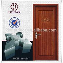 simple de goma maciza de madera swing panel de la puerta de bloqueo de diseño