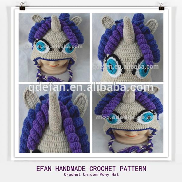 Crochet Pony Hat Pattern Unicorn Pony Hat Pattern