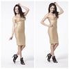 gold bandage dress knee length bandage dress bodycon dress