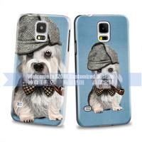 brand mobile phone cover mini dog design color printing on black hard case for Samsung S5 S5 mini
