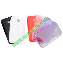 S Shape Design TPU Gel Silicone Case for Motorola Moto E XT1021 XT1022