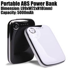 SYJ-P 5000 mAh Portable Power Bank for iPhones iPads Smartphones - Black/White