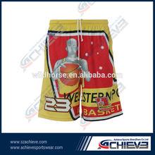 100% polyester full printing basketball training short