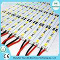 12v de aluminio de smd led rígido tira de led rígido bar 5630 blanco cálido/blanco/blanco frío 72led/m