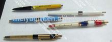 Custom design logo ballpoint advetising plactic pen with bule/black pen
