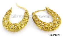 Tibetan Brass Tube Filigree Earring Hook Charms