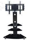 movable adjustable rack glass 12 volt lcd tv