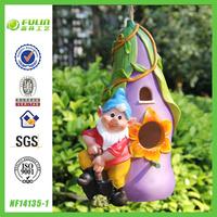 Hot Garden Gnome Bird House for Garden Decor