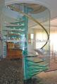 interior desmontable giratoria de vidrio escaleras