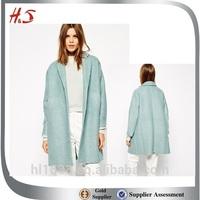 2014 New arrival OEM korean style fashion women coat women's long coat