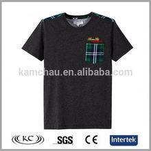 europe stylish man black t-shirt with beads