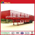 tonnes de fret camion remorque utilitaire 60 clôture semitrailer avec essieux bpw pour la vente