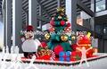 Boneco inflável, casa de natal, decoração de natal para a promoção de supermercado