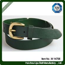 Wholesale Green Screw Leather Belt Universal Mans Leather Belt