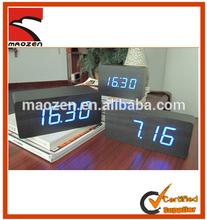 Retro wooden clock led digital clock with alarm date temperature