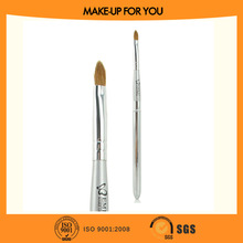 Silver wood handle lip brush, emily make up brushes sable with aluminum cover