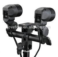 Dual Swivel Continuous Light Lamp Bulb CFL Holder E27/26 Socket Umbrella Bracket