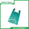 green recycle hdpe t-shirt plastic bag customized printed