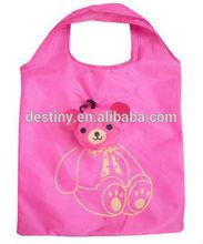 Nylon environmental protection Mei red little bear shopping bag foldable grocery shopping bag