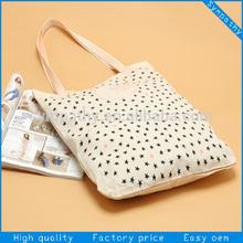 100% natural cotton bag/cotton canvas tote bag