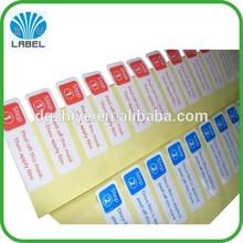 Product description label Introductions sticker