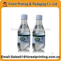 Etiqueta del encogimiento del PVC para agua / jugo de jugo de la botella de bebida