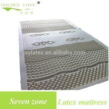 Latex 7 zone mattress beautiful massage mattress hot massage