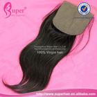 Cheap indian virgin human hair, free parting silk base closure