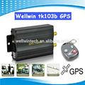 نظام تحديد المواقع الصغيرة tk103b اللاسلكية المحمولة جهاز تتبع السيارة مع جهاز التحكم عن بعد التنبيه sos