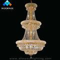 lustre de cristal de luxo luminária