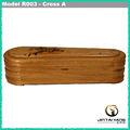 Low end barato caixão de madeira para o espanhol mercado made in china
