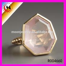 Designer de moda safira azul anéis baratos por atacado único rosa anel de safira