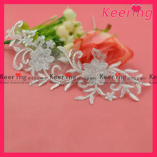 handmade embroidery design decorative lace for dress WLS-523