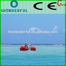 CE Approved aqua park adult 3 big wheels aqua-cycle water trike for sale