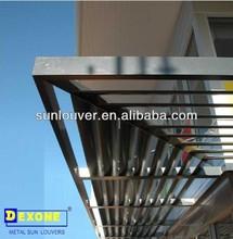 Aluminum fixed louver windows for curtain wall