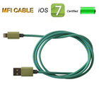 Quality poular MFI certified flat USB data changer cable cord for iPhone 5 5C 5S IOS7.1.2