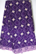 Big African Swiss Voile Lace Fabric Sewing For Party/Wedding Dress High Quality Purple big heavy lace swiss voile lace