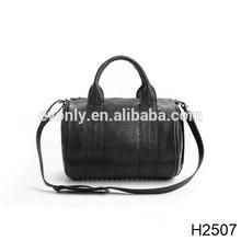 H2507 The bottom of the punk rivet locomotive postman Boston aslant female bag
