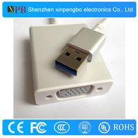 New Gold Plated USB 3.0 to VGA Display Adapter China Supplier