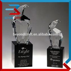Animal crystal eagle trophy awards with black crystal base